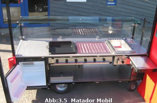 matador mobiler verkaufswagen in grill und wokmachine ausf hrung verkaufsmobil. Black Bedroom Furniture Sets. Home Design Ideas