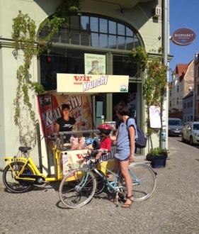 Verkostigung Fahrradstand