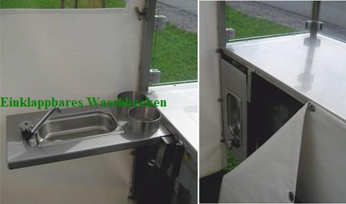 Einklappbares Waschbecken Verkaufsfahrrad