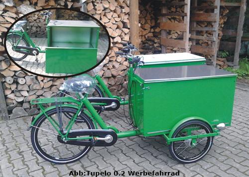 Lasten Fahrrad und Werbefahrrad